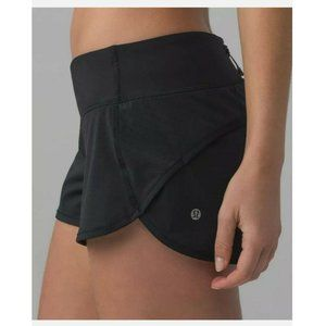 "LULULEMON Perforated Speed Shorts 2.5"" Black Sz 4"